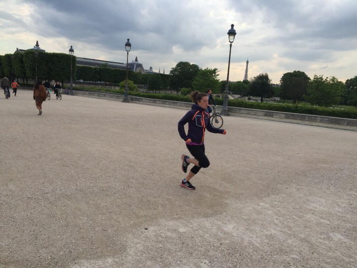 Kelly Entraînement Paris Saint Germain la course